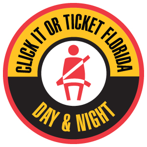 Florida Click It or Ticket Day & Night Logo